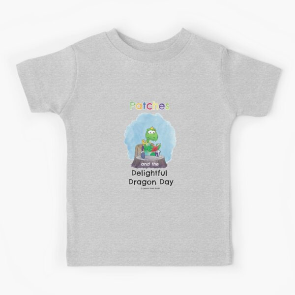 Patches turtle reading Kids T-Shirt