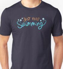 Continue de nager T-shirt ajusté
