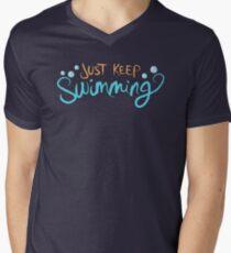 Just Keep Swimming Men's V-Neck T-Shirt