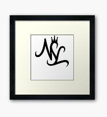 NSL White Crown Framed Print