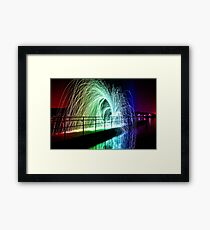 Steel Wool Spinning Framed Print