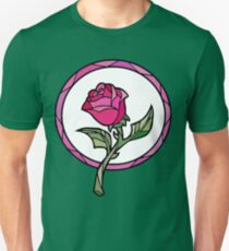 Stained Glass Rose   Beauty and the Beast Unisex T-Shirt