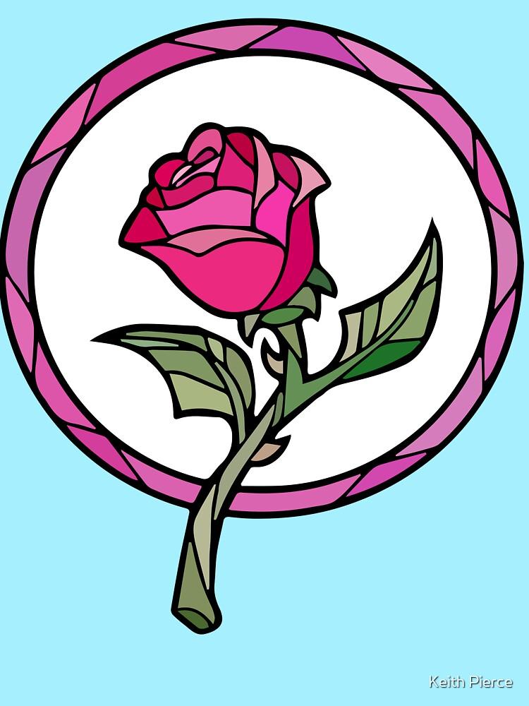 Vitral Rose | La bella y la Bestia de SDCollectibles