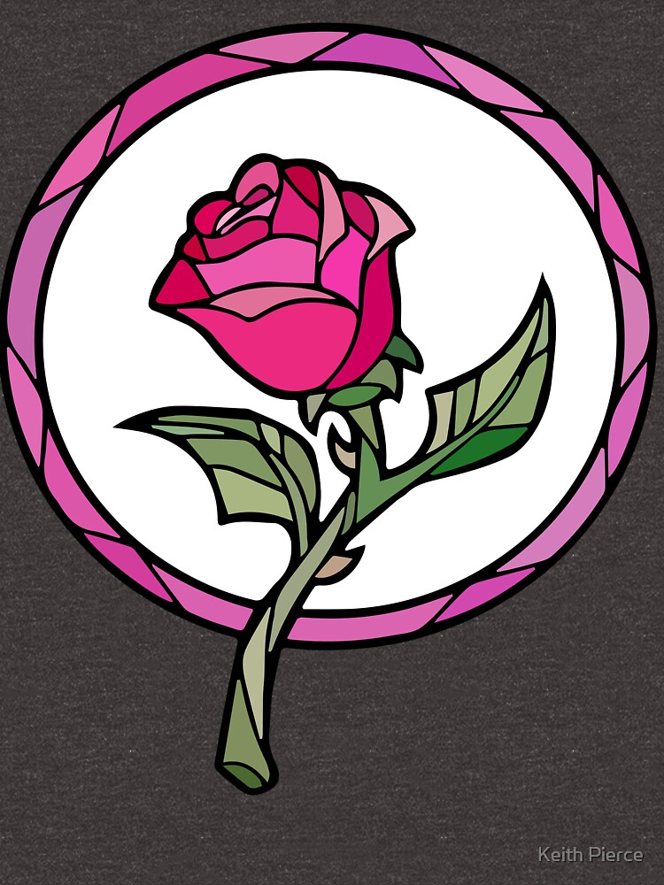 Stained Glass Rose | Beauty and the Beast by SDCollectibles