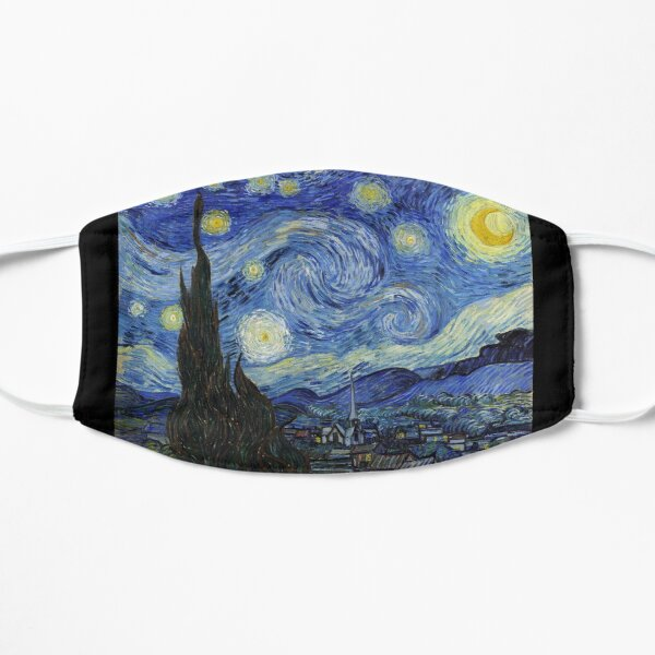Starry Night - Vincent Van Gogh Flat Mask