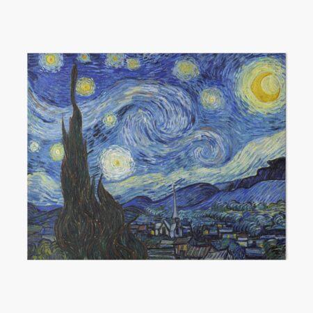 Starry Night - Vincent Van Gogh Art Board Print