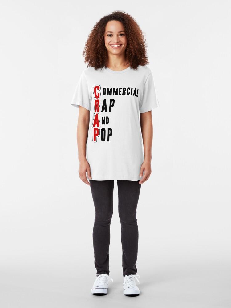 Alternate view of CRAP - Black Slim Fit T-Shirt
