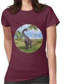 Dinosaur Brachiosaurus Womens Fitted T-Shirt