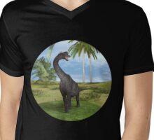 Dinosaur Brachiosaurus Mens V-Neck T-Shirt