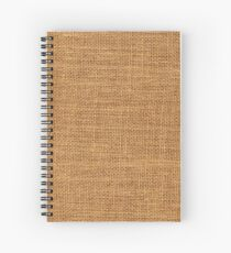 Sackcloth material Spiral Notebook