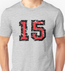 Number Fifteen - No. 15 (two-color) red T-Shirt