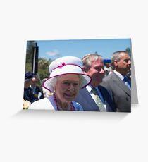 Queen Elizabeth in Perth Greeting Card