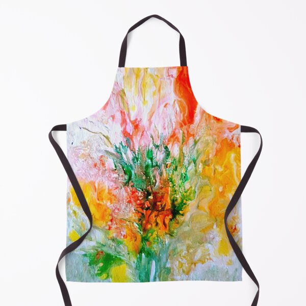 African Protea painting Apron