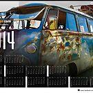 2014 VW festival Photo Calendar. The Denim vw splitscreen by jay007