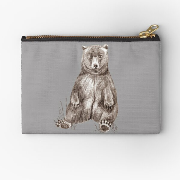 Graphite Bear Tatra Cottage Zipper Pouch