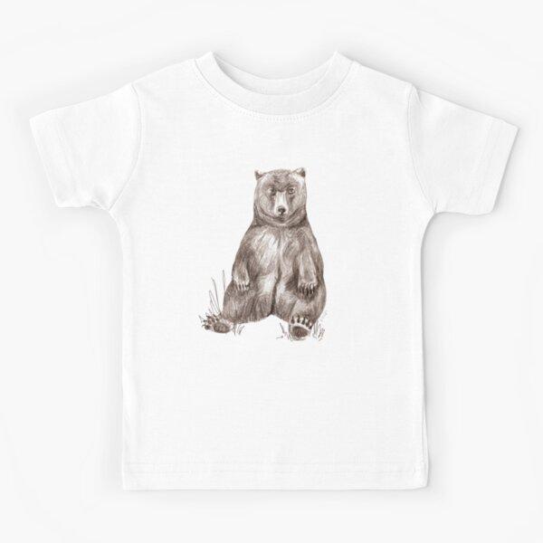 Graphite Bear Tatra Cottage Kids T-Shirt