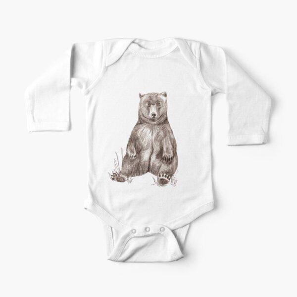 Graphite Bear Tatra Cottage Long Sleeve Baby One-Piece