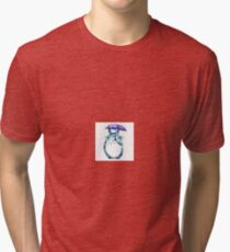 Geometric Totoro Tri-blend T-Shirt