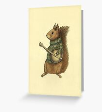 Squirrel with a banjo Greeting Card
