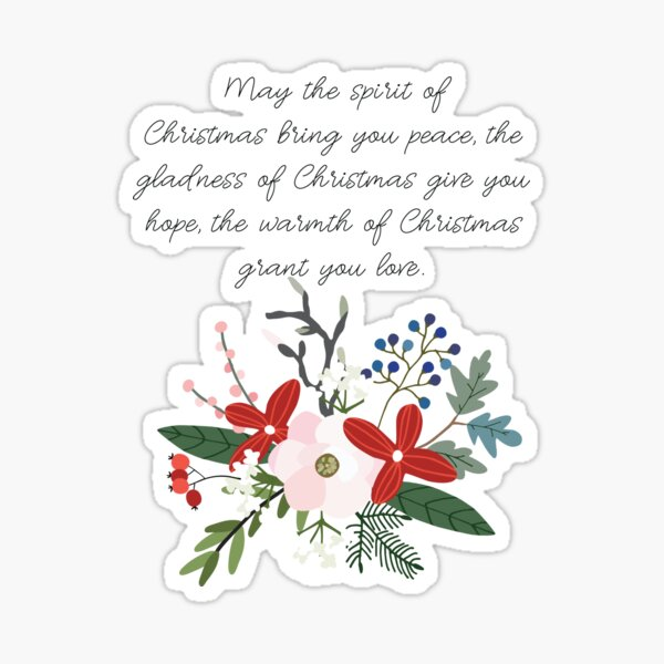 Spirit of Christmas Sticker