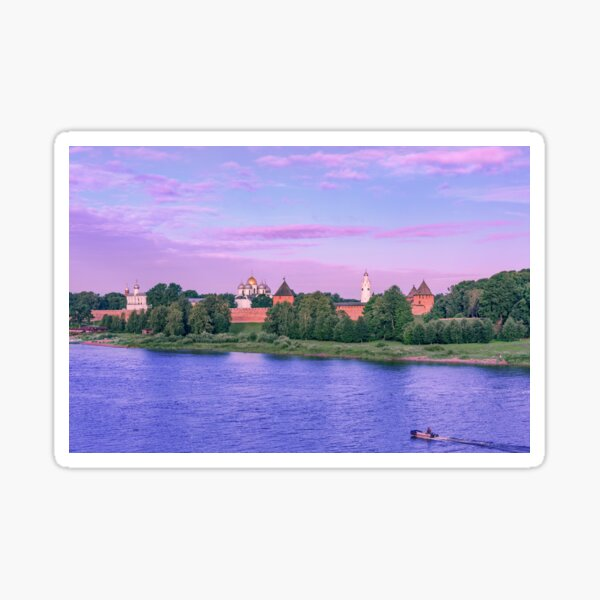 Novgorod at dawn Sticker