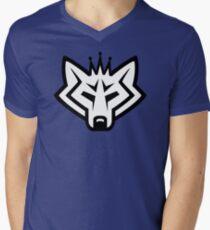 NSL Crown Wolf Mens V-Neck T-Shirt