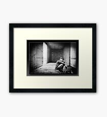 Riding The Lonesome Rail Framed Print