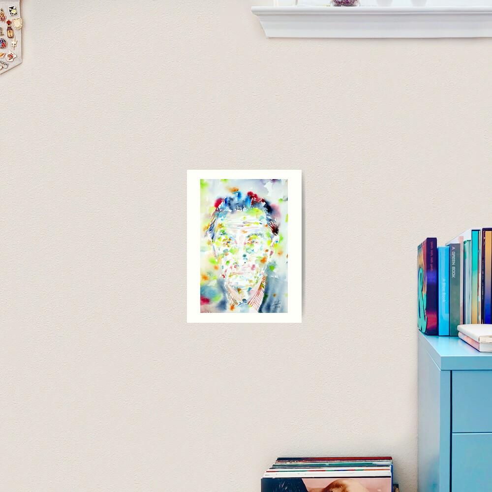 603843789 marcel duchamp - watercolor portrait | art print
