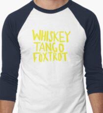 Whiskey Tango Foxtrot - Color Edition Men's Baseball ¾ T-Shirt