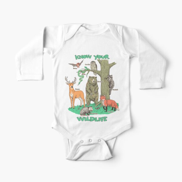 Know Your Wildlife Long Sleeve Baby One-Piece