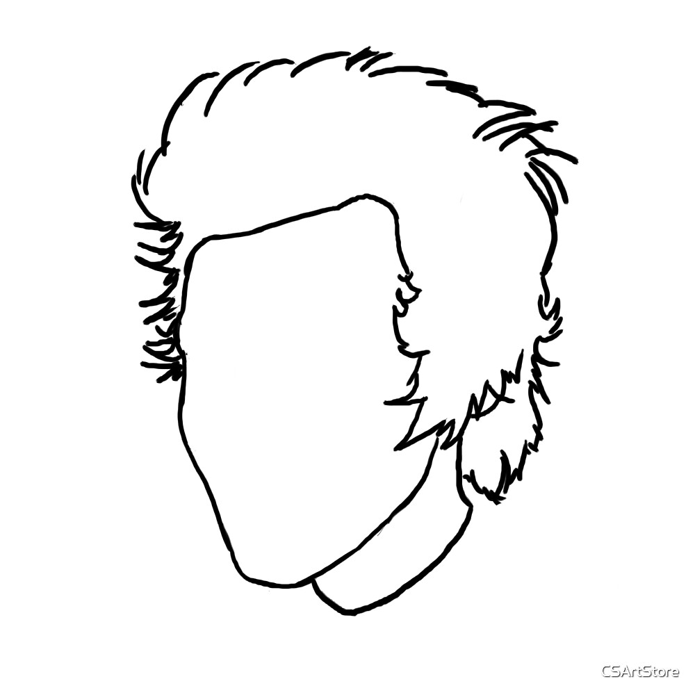 Harry Styles Outline Drawing by CSArtStore