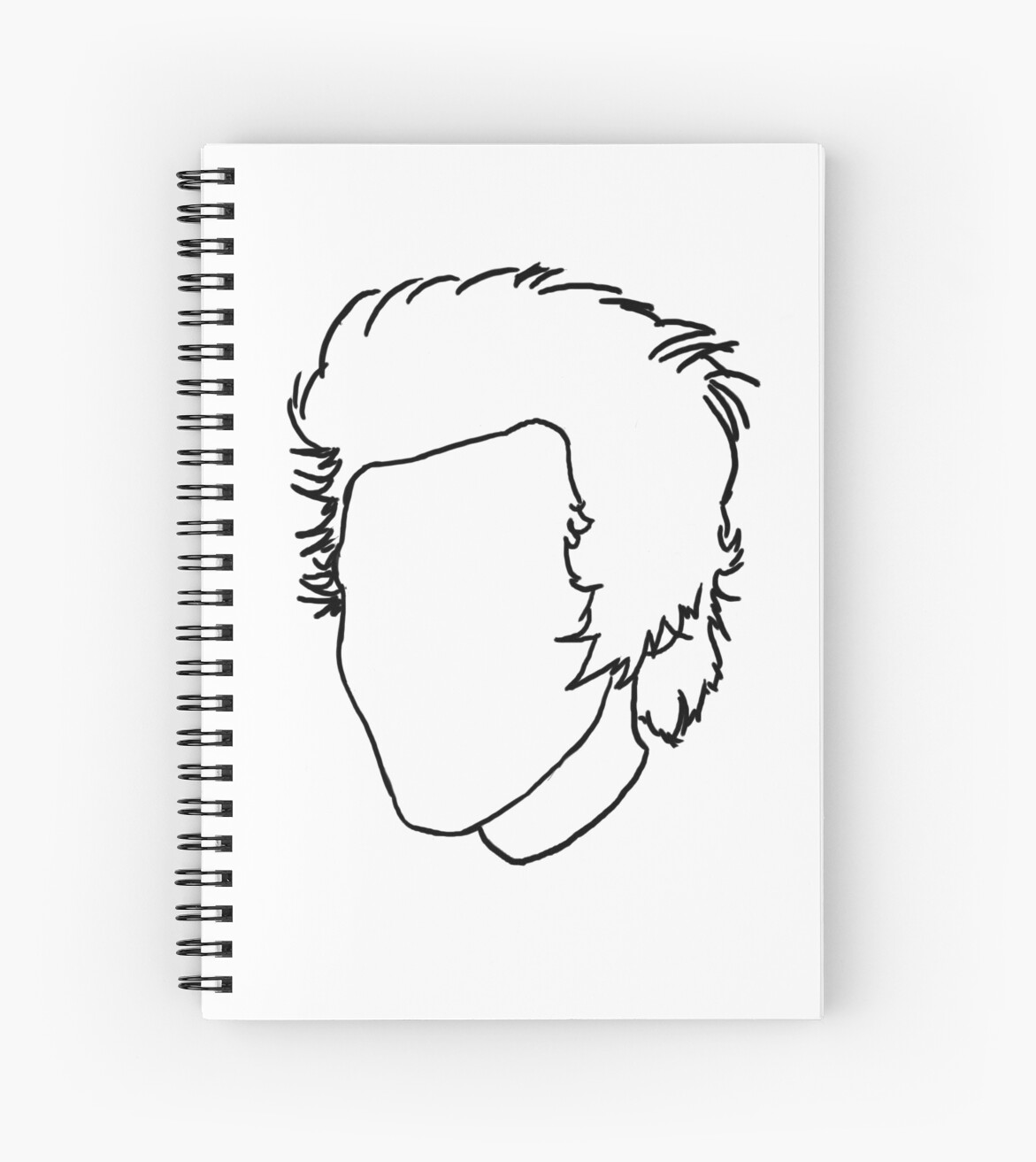 Harry styles outline drawing spiral notebook by csartstore redbubble