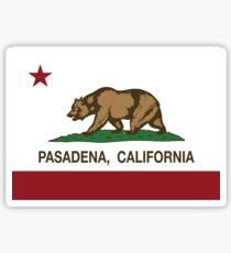 Pasadena California Republic Flag  Sticker