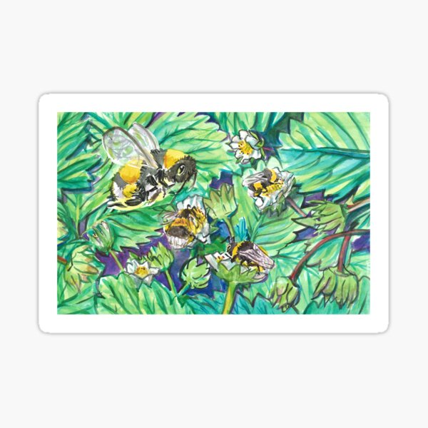 Pollinating Bumbles Sticker