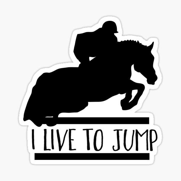 Live to Jump Sticker