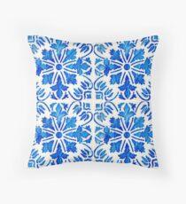 Traditional Portuguese glazed tiles Throw Pillow