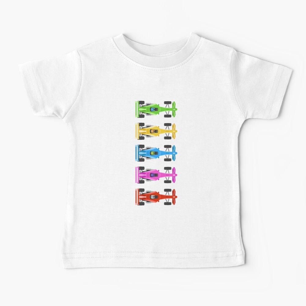 Five Race Cars  Baby T-Shirt
