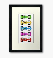 Five Race Cars  Framed Print