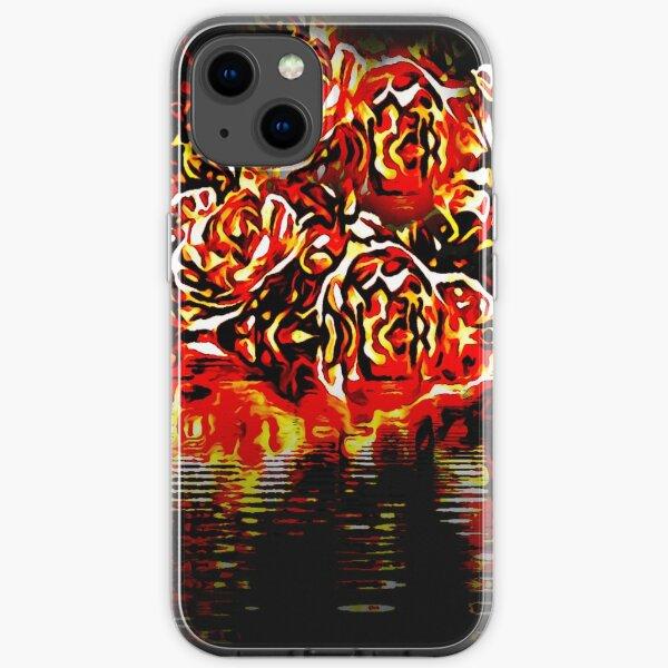 pastel floral folk art motif  iPhone Soft Case