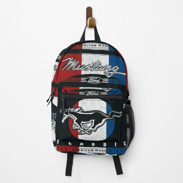Mustang Retro Sign Backpack