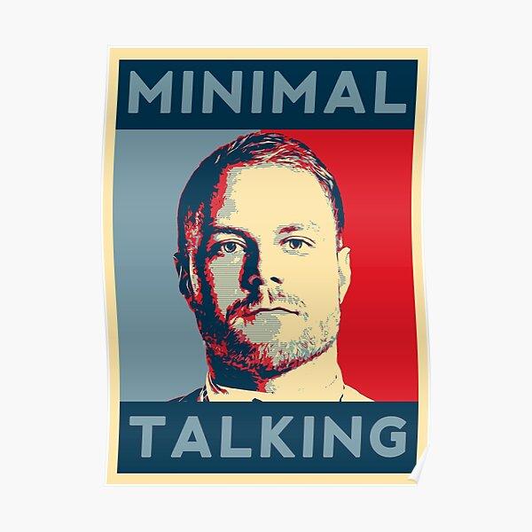 Valtteri Minimal Talking Bottas Poster