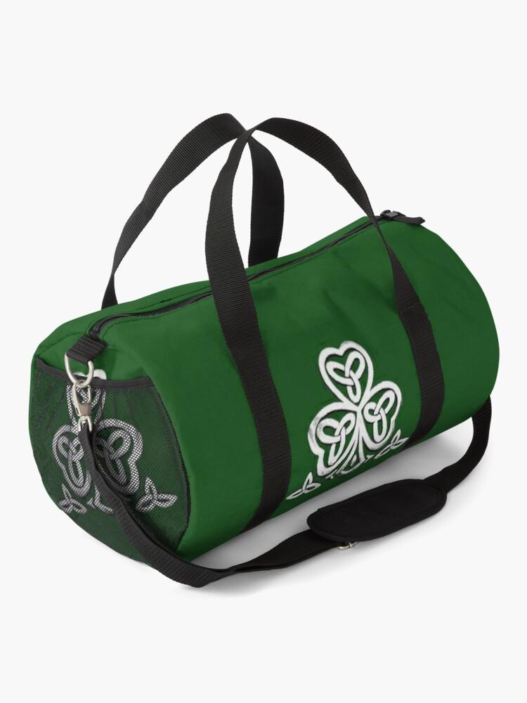 Alternate view of celtic shamrock Duffle Bag