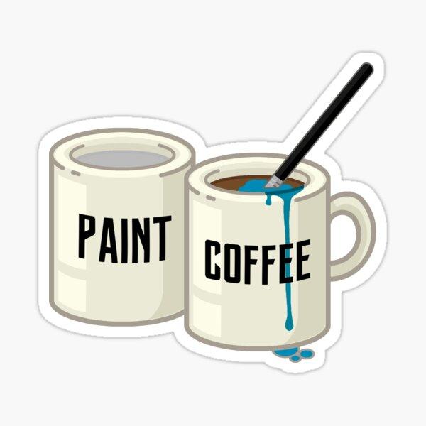 La lutte du peintre Sticker