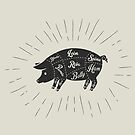 Pork meat cuts  by Alejandro Durán Fuentes