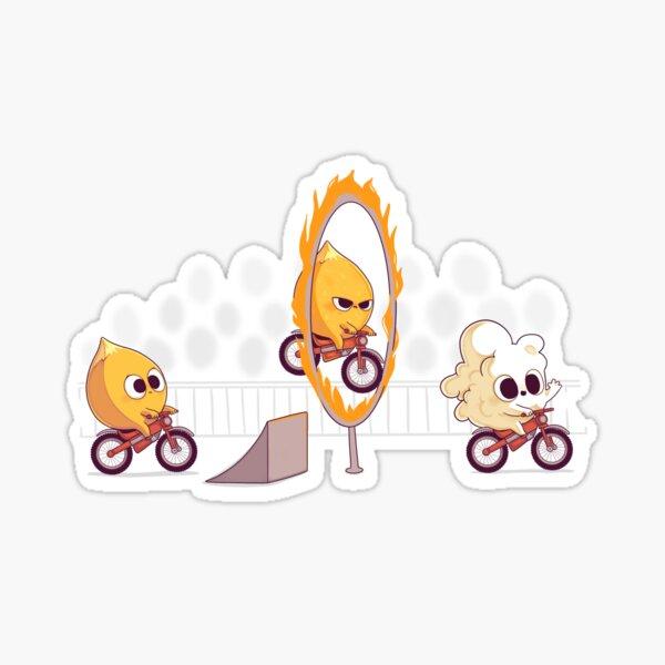 Fire stunt Sticker