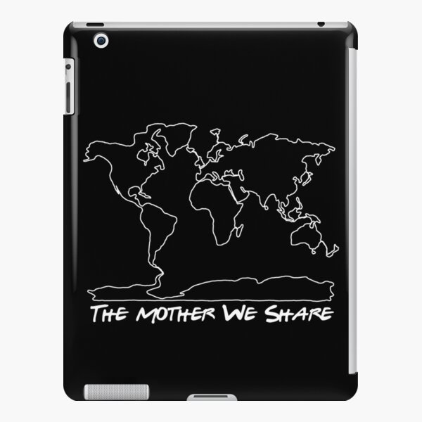 The Mother We Share Map White iPad – Leichte Hülle