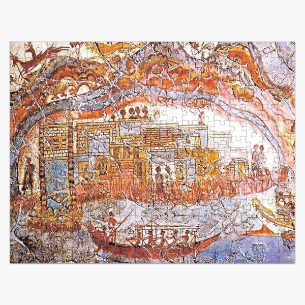 Minoan Admirals Flotilla Fresco Thera Scene Jigsaw Puzzle