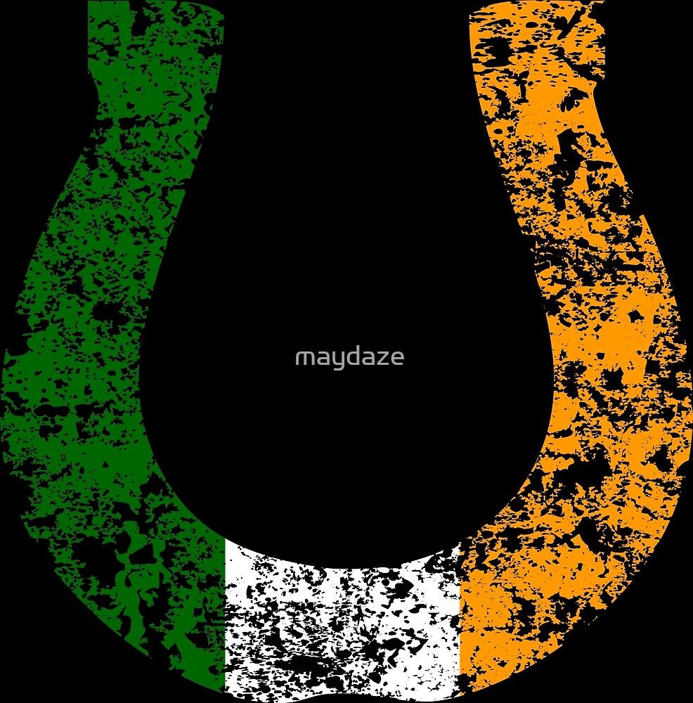irish flag horseshoe by maydaze