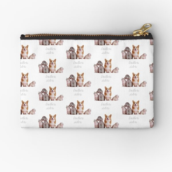 Cats and dogs brothers and sisters  Zipper Pouch