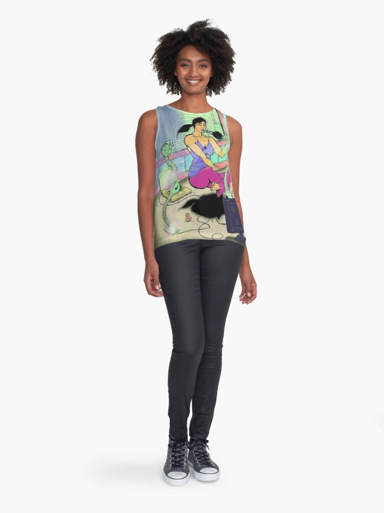 Alternate view of Snakes On An Astral Plane Sleeveless Top